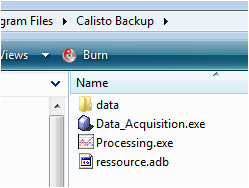 Files to backup before calisto upgrade
