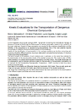 Kinetic Evaluation for the Transportation of Dangerous Chemical Compounds