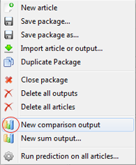 Create new comparison output
