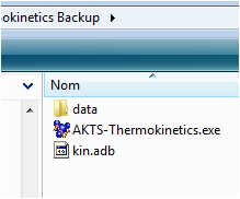 Files to backup before proceeding with the AKTS-Thermokinetics upgrade
